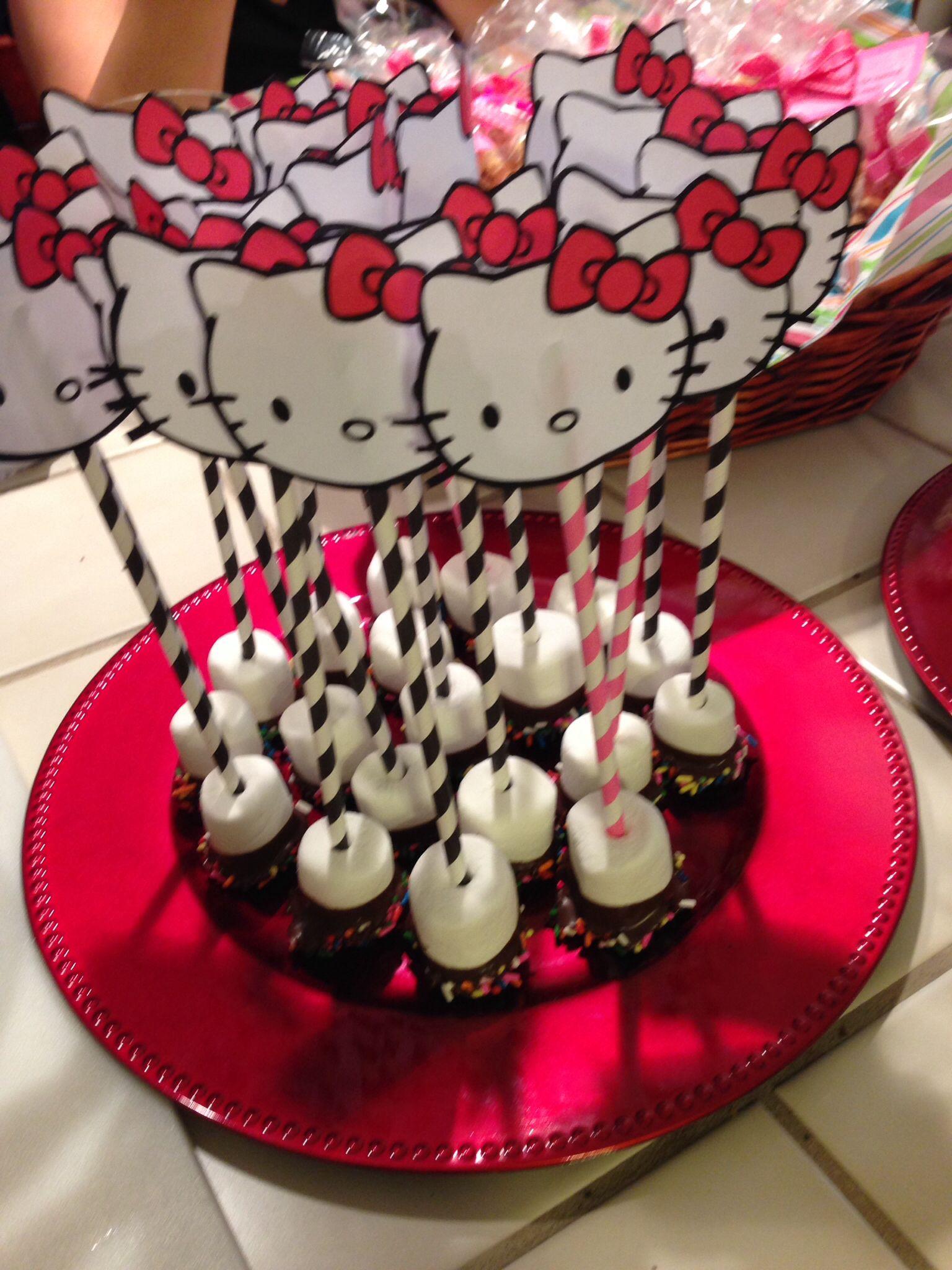 Hello kitty chocolate covered marshmallows hello kitty