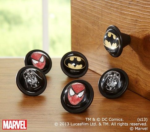 I know a little lady at target that will love these knobs from pottery barn!