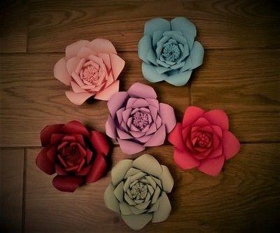 Kwiaty Papierowe Dekoracje Weselne Slubne Szary 6709396448 Oficjalne Archiwum Allegro Flowers Rose Handmade
