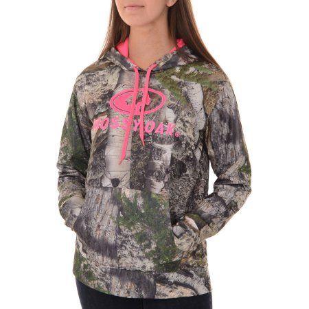 Mossy Oak Women/'s Performance Pullover Fleece Camouflage Hoodie Size Large