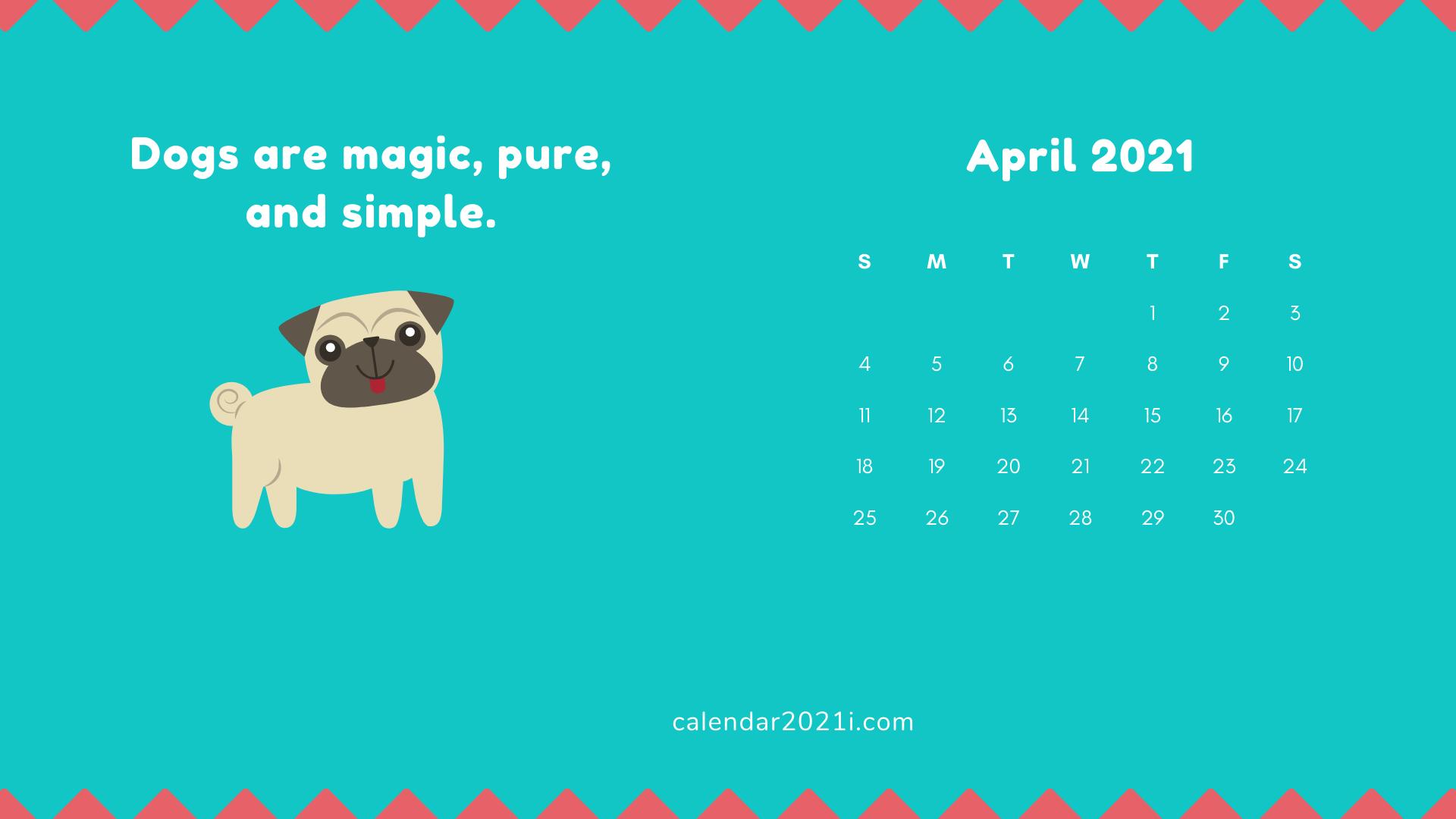 April 2021 Wallpaper Calendar April 2021 Calendar Wallpaper | Calendar wallpaper, 2021 calendar