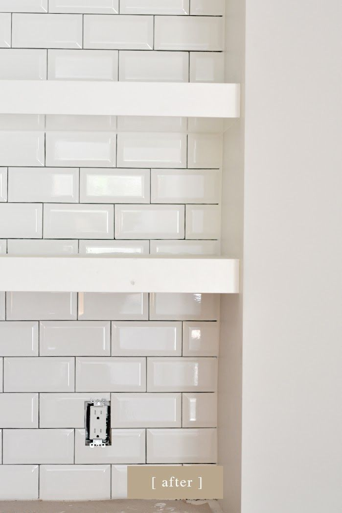 use dark or light gray grout between tiles and white