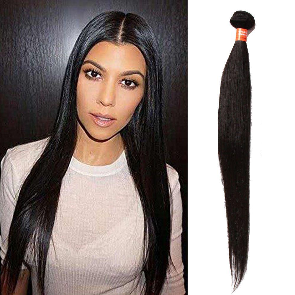 3bundles 18 Real Human Hair Extension Natural Black Straight Hair