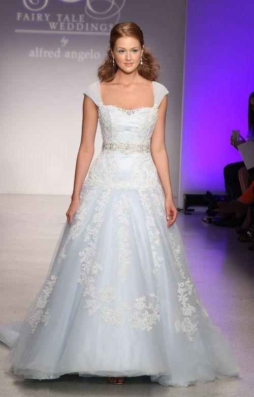 Alfred angelo blue wedding dresslove