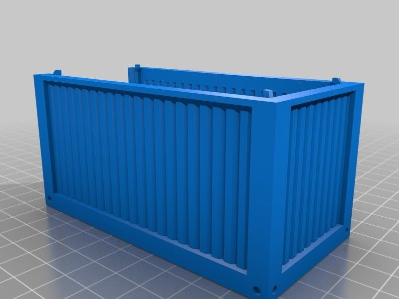 28mm Intermodal Shipping Container Sample Pack By Angrylittletree Thingiverse In 2020 Shipping Container Roof Panels 40ft Shipping Container