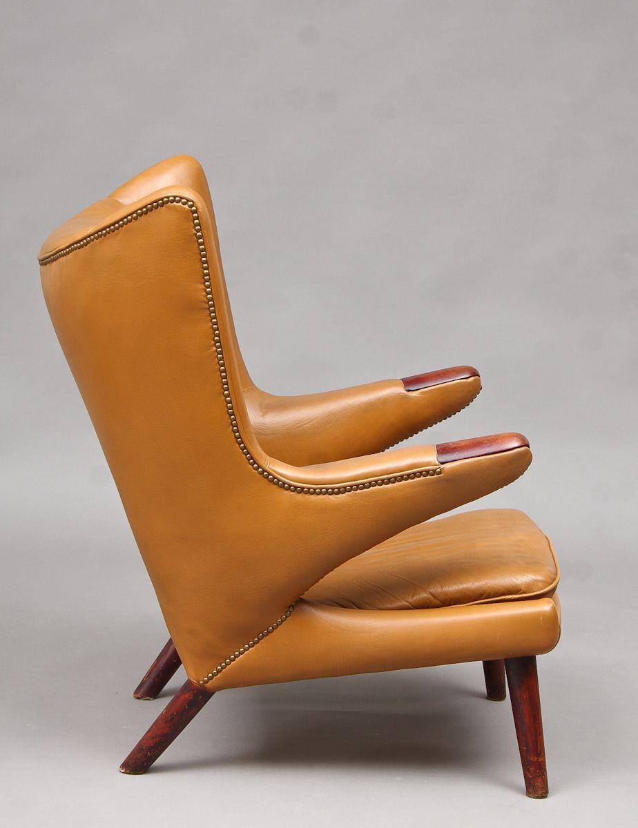 Hans J. Wegner 1914-2007. Lounge chair, model AP-19, Papa Bear Chair with teak legs and armrest tips. Designed in 1951.
