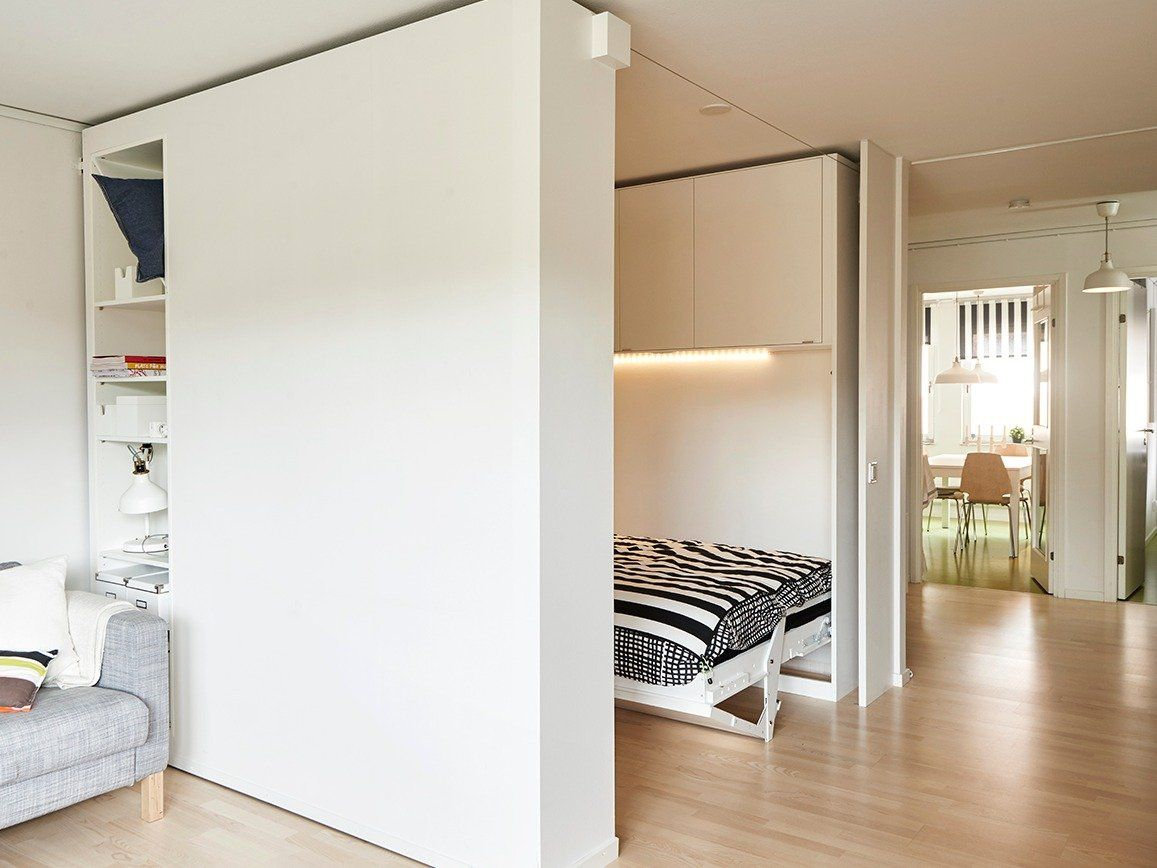 Ikea Built A Moveable Wall To Help People Live Big In Tiny Apartments Ikea Small Spaces Moveable Wall Sliding Room Dividers