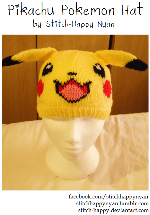 Hand-knitted Pikachu Hat by ~Stitch-Happy on deviantART | アニメや ...