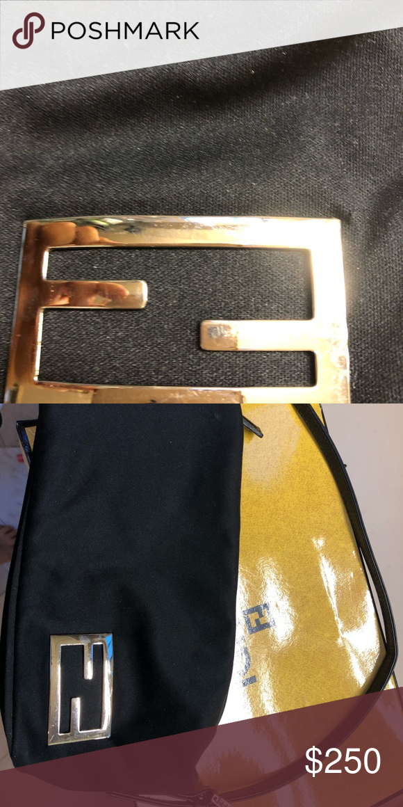 Authentic Fendy Handbag 100 Authentic Fendi Bag Made Out Of Microfiber With Stainless Steel Logo Fendi Bags Mini Bags Fendi Bags Mini Bag Bags