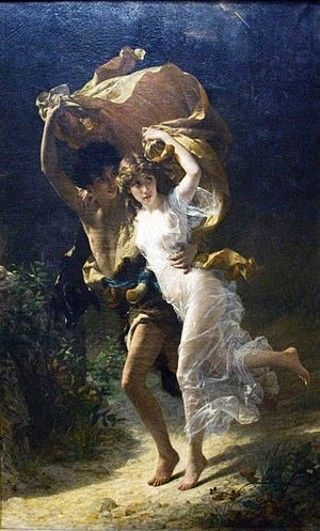 The Storm (La Tempête) is a painting by French artist Pierre Auguste Cot, completed in 1883. Currently on display at New York's Metropolitan Museum of Art.