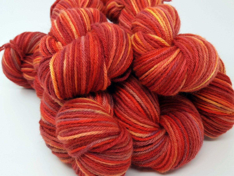 October Glory! Blazing Orange Red Purple Yellow Hand Dyed