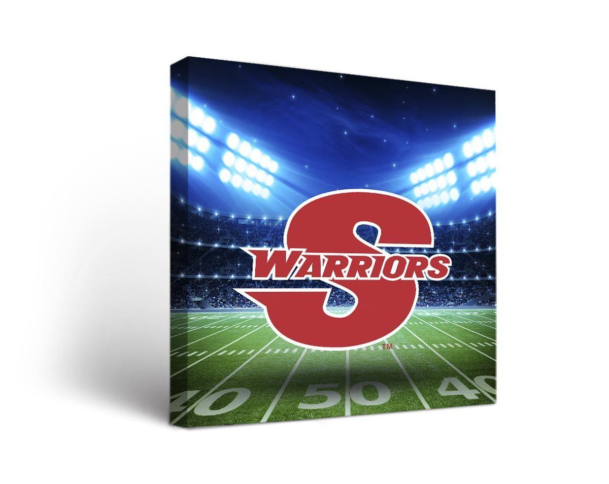 Cal State Stanislaus Warriors Football Stadium Canvas Art Square