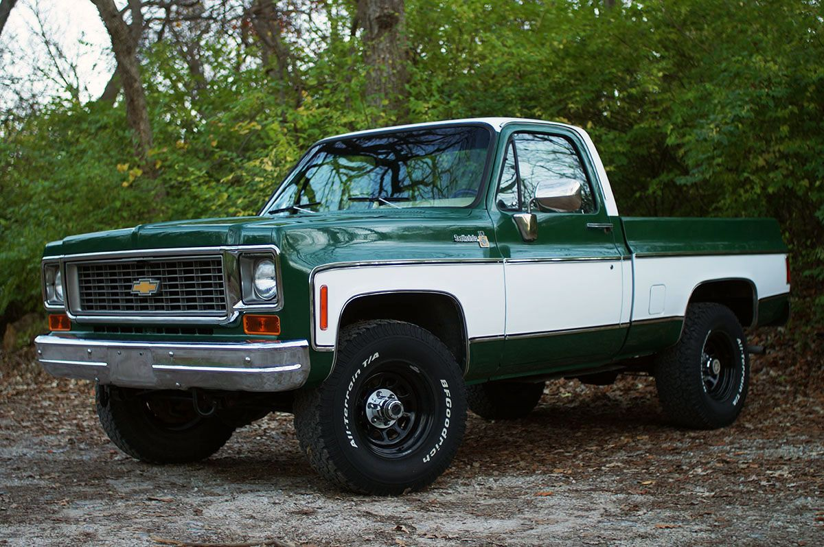 Super clean 1974 1975 chevy k10 squarebody c10 4x4 chevrolet restoration restomod muscle truck nate taylor pinterest muscle truck 4x4 and chevy