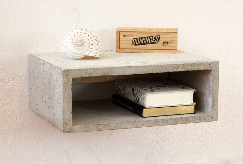 Schwebender Beton Nachttisch Concrete Nightstand Nightstands