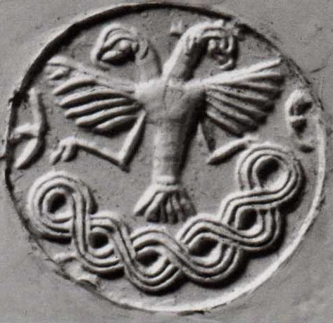 Hittite, seal of two-headed eagle Boğazköy C.1800 BC, Museum of Anatolian civilizations, Ankara