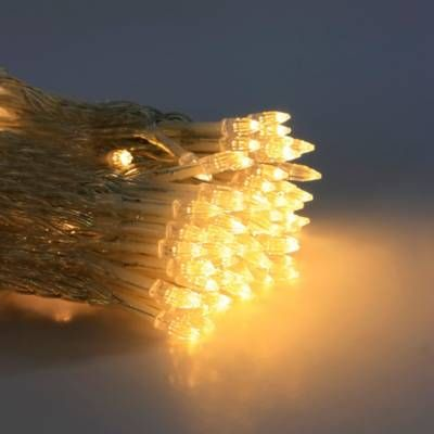 Product Image For Solar Umbrella String Lights In White 2 Out Of