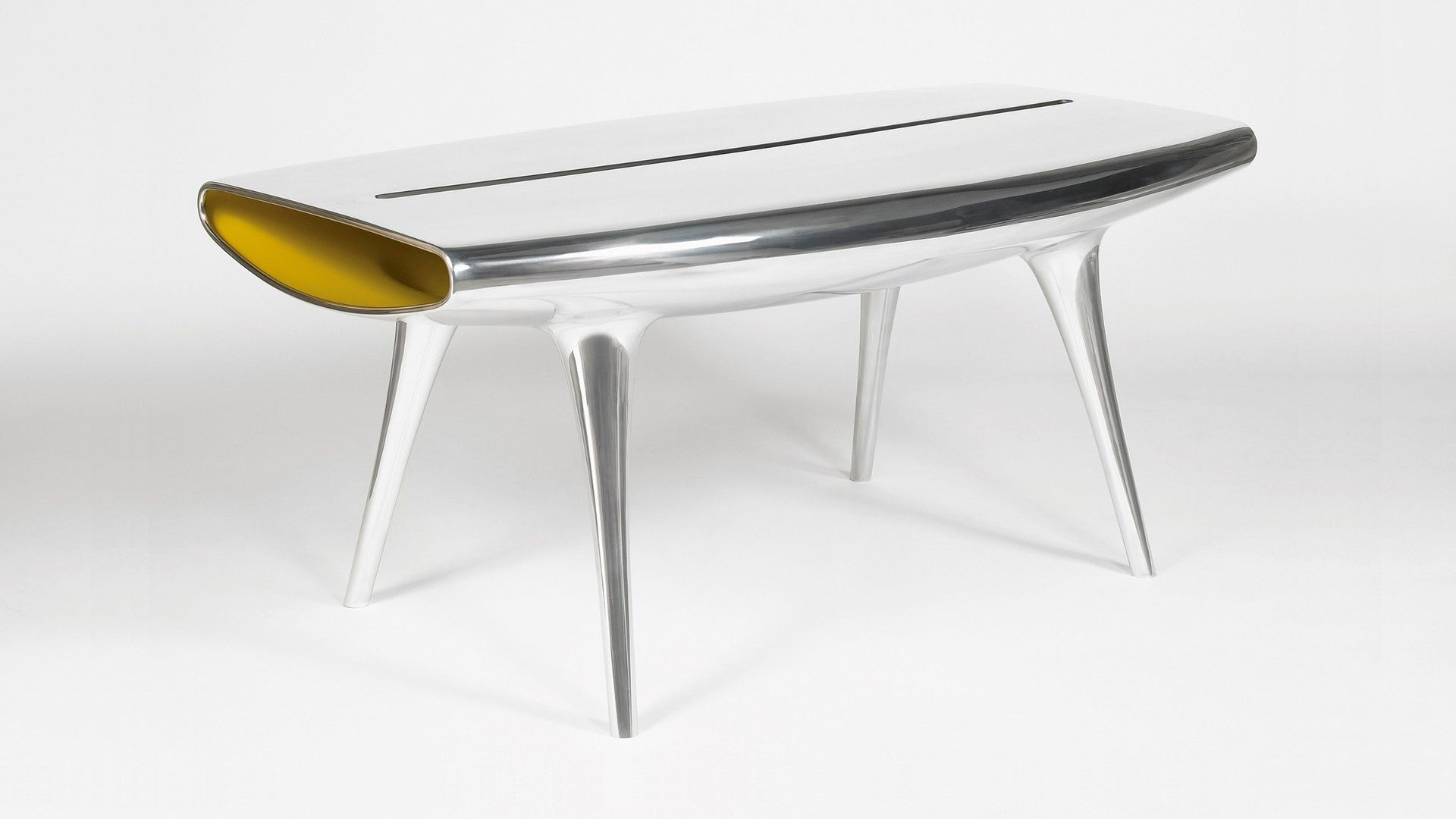 Aluminum Table Marc Newson Called Event Horizon Table 1994