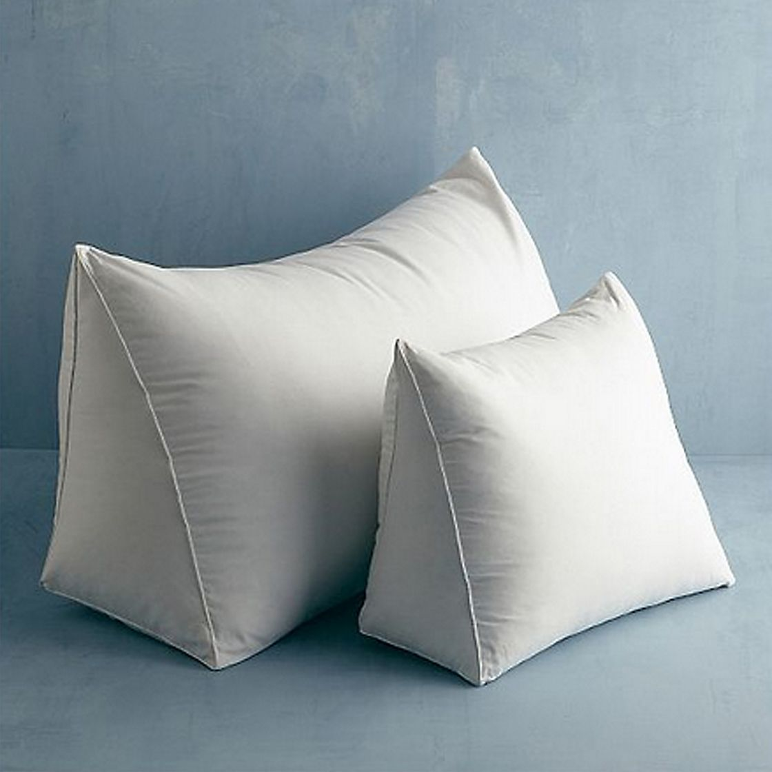 grey wedge ruffle white pure olivia shaped bedroom and pillow reading foam linen cushion detail pillows bed