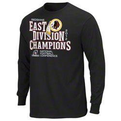 Washington Redskins 2012 NFC East Division Champions Long Sleeve T-Shirt   27.99 http   fde908924