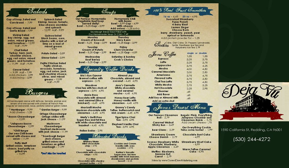 Restaurant ToGo Menu Graphic Design Services  Restaurant ToGo