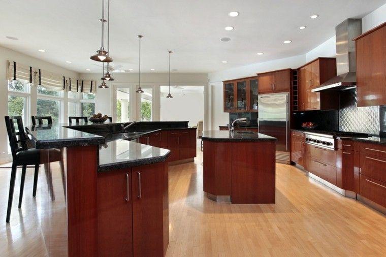 Cocinas modernas con isla: 100 ideas impresionantes | Encimera de ...