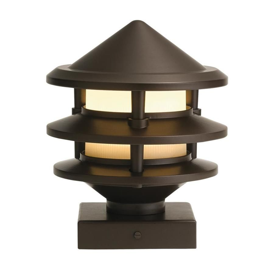 Kichler 3 Watt Olde Bronze Low Voltage Hardwired Led Post Cap