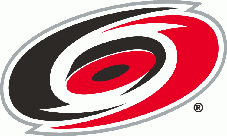 carolina hurricanes primary logo 1997 98 1998 99 a red and black rh pinterest co uk red black and yellow logos black and red b logos