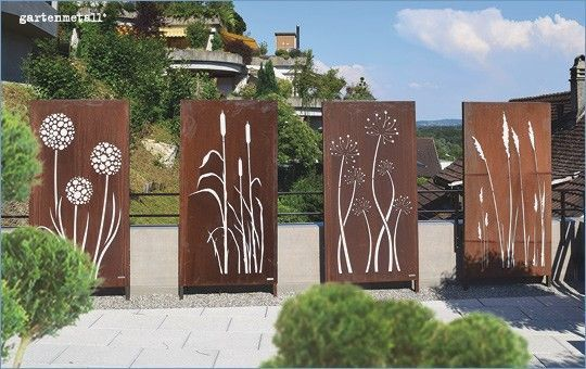 Garten Metall Bildschirm Garten Metall Bildschirm Garten Metall Bildschirm The Post Gart Sichtschutz Garten Sichtschutzwand Garten Gartengestaltung Ideen