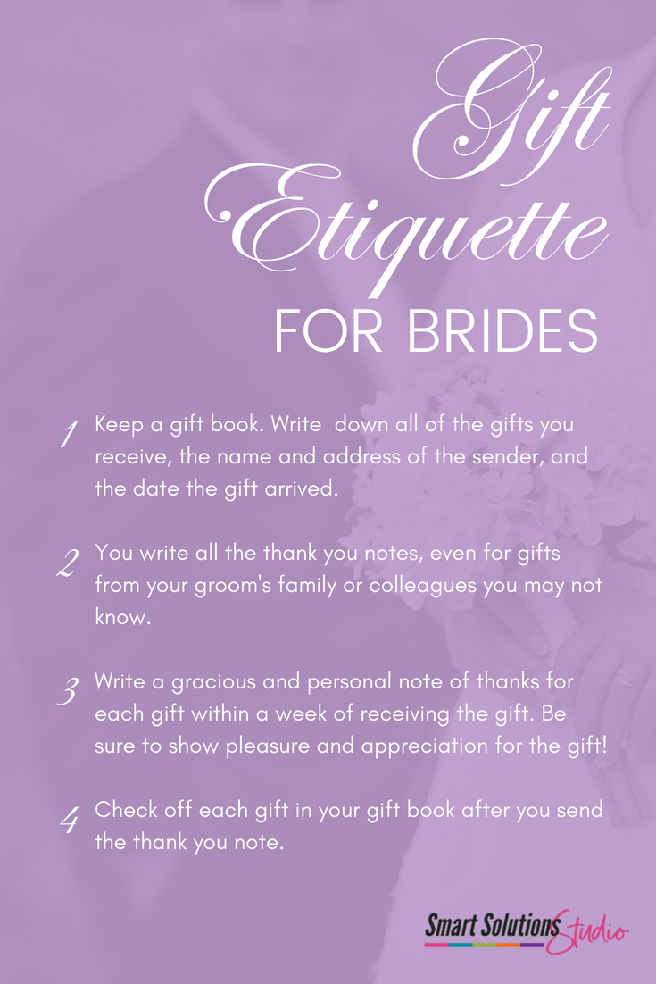 Wedding Gift Etiquette For Brides I Love The Idea Of Keeping A Gift Book To Record All The Gifts And K Thank You Notes Wedding Gift Etiquette Wedding Book