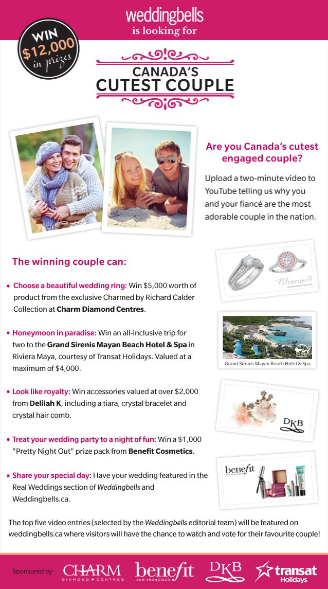 Tell Us Why You Re Canada S Cutest And Could Win Free Weddingcutest Swedding Stuffcanada
