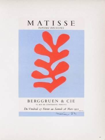 Alvorlig AF 1953 - Berggruen Et Cie Samlertryk | henri matisse. i 2019 FI37