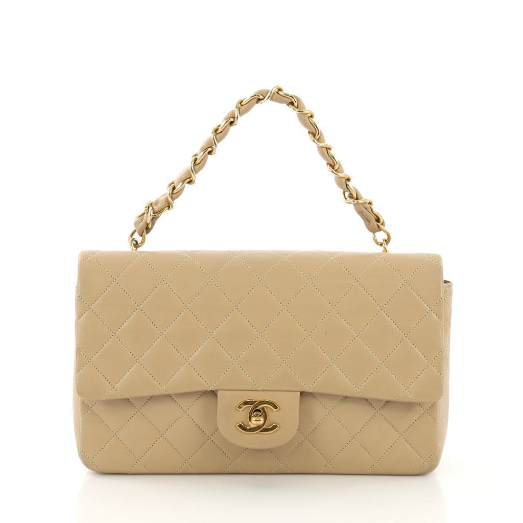2b15239ad01572 Chanel Vintage Classic Double Flap Bag Quilted Lambskin 4151123 – Rebag