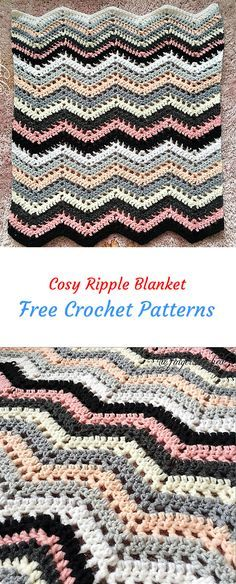 Cosy Ripple Blanket Free Crochet Pattern | Ripple and Chevron ...
