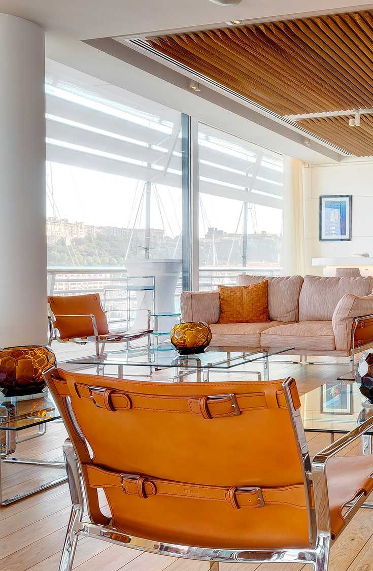 Fendi Casa furnishes the new Monaco Yacht Club