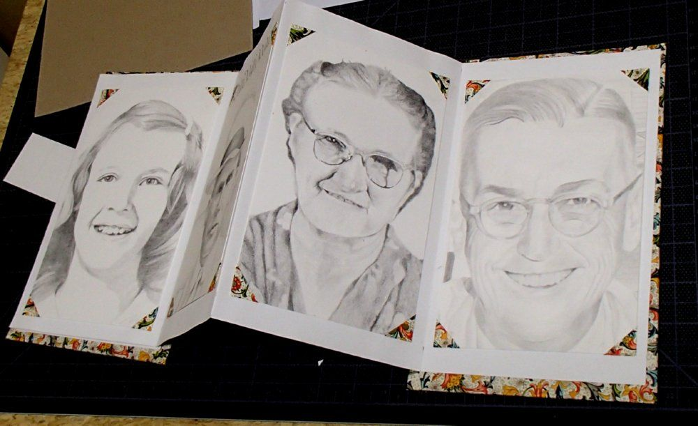 Just finished the Granny face for my Face Book. Hee hee.