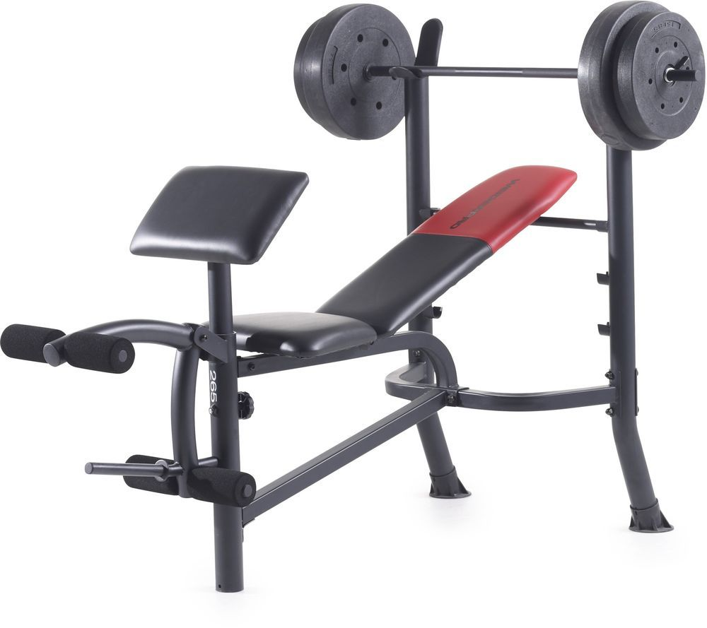80 Lb Vinyl Weight Bench Set #weights #bench #gym #exercise #fitness #workout #WeiderPro