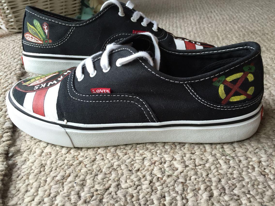 Custom Blackhawks Shoes Hockey Baby Vans Sneaker Sneakers
