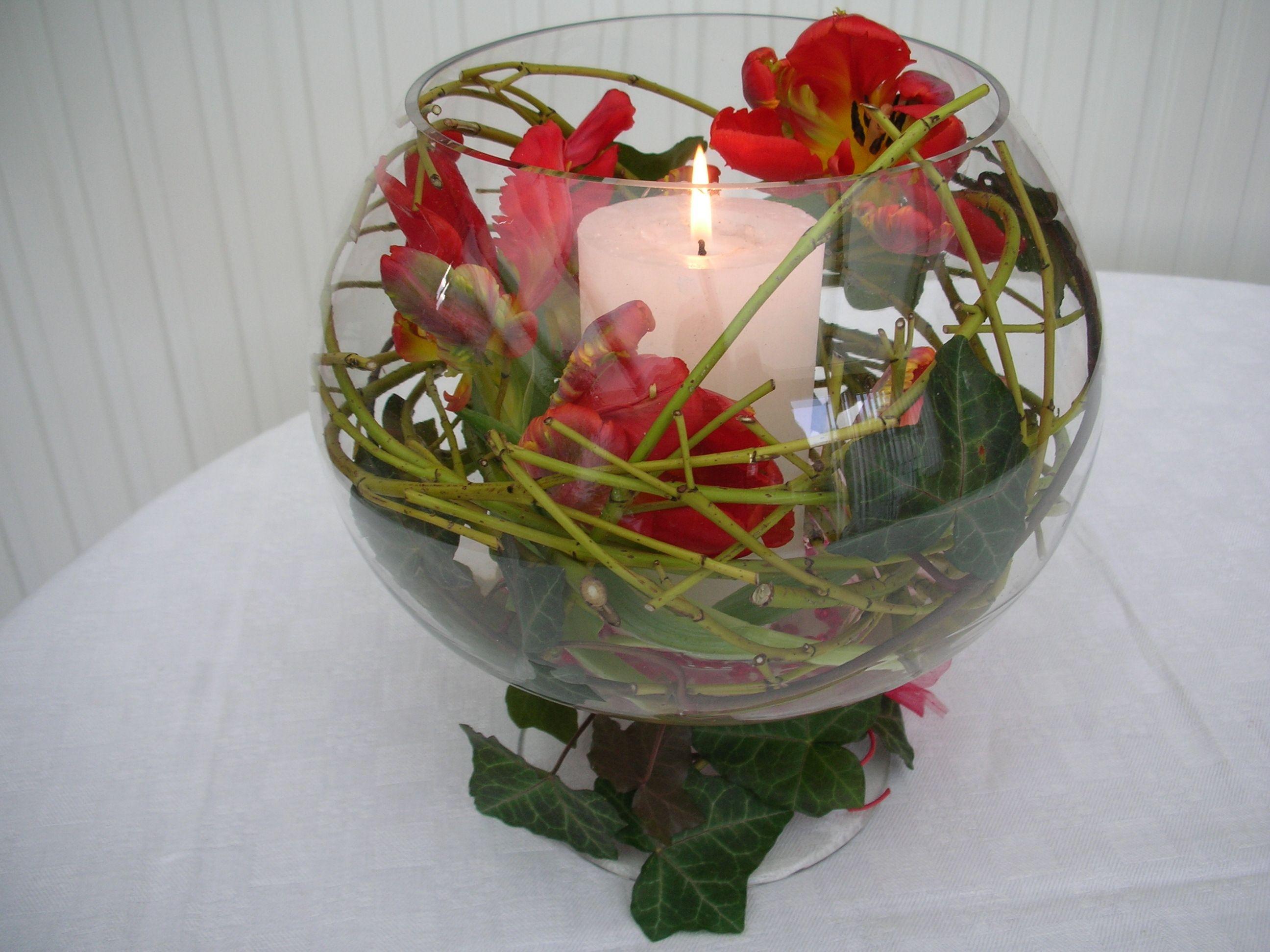 d coration florale de table tutoriel composition florale simple r aliser coupe printani re. Black Bedroom Furniture Sets. Home Design Ideas