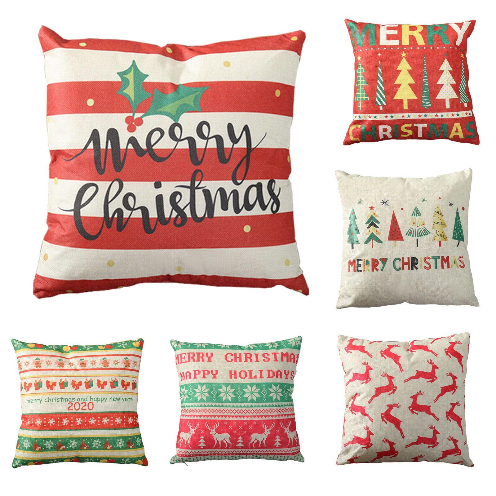 New Christmas Pillow Cotton Linen Sofa Throw Cushion Case Cover Home Decor Sales Sofa Cushions Idea With Images Throw Cushion Covers Christmas Pillow Cotton Linen Sofa