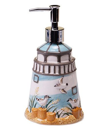 This Seaside Cottage Soap Dispenser is perfect! #zulilyfinds