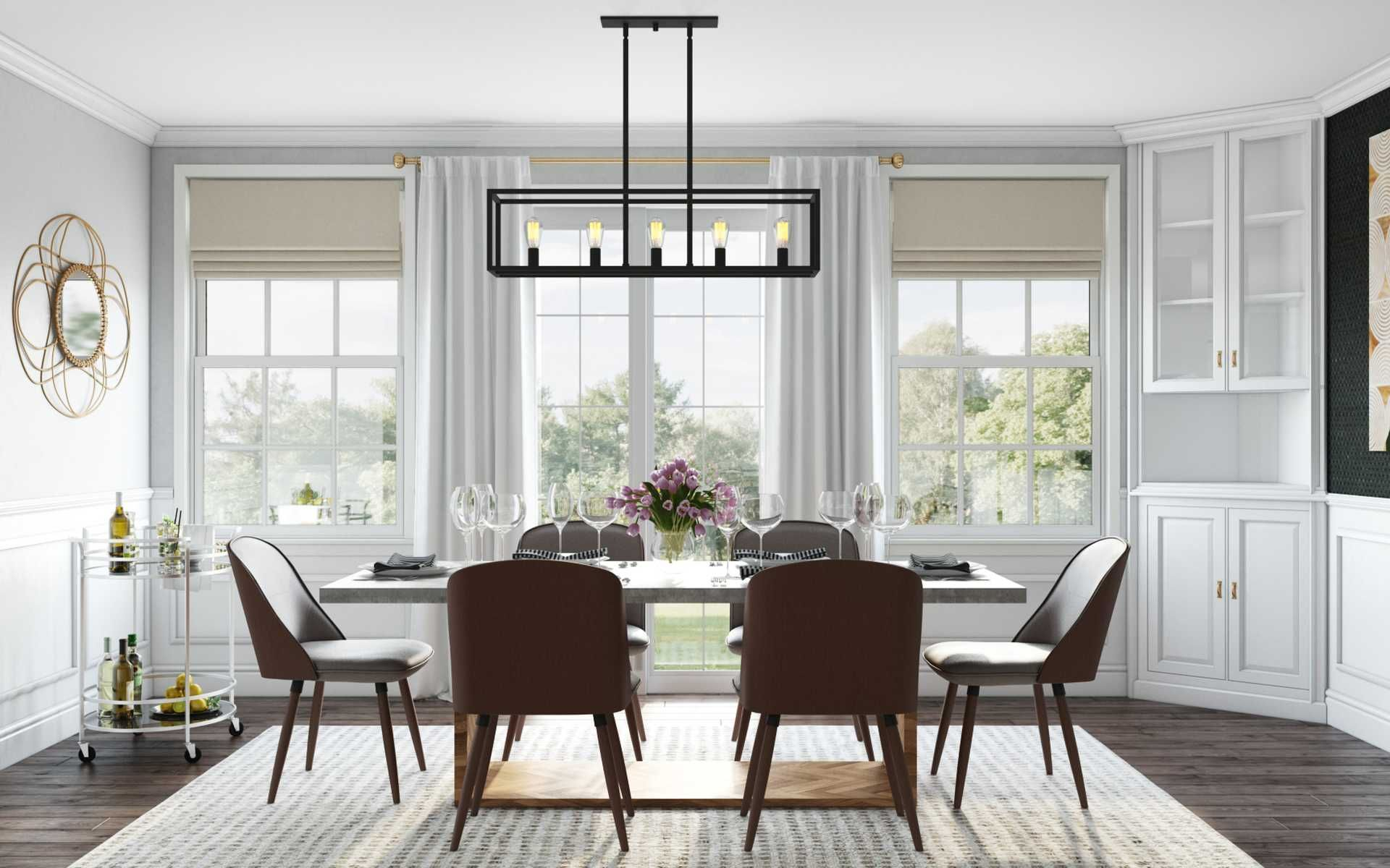 Modern Bohemian Dining Room Design By Havenly Interior Designer Leigh In 2021 Dining Room Design Interior Design Dining Room Dining Room Interiors
