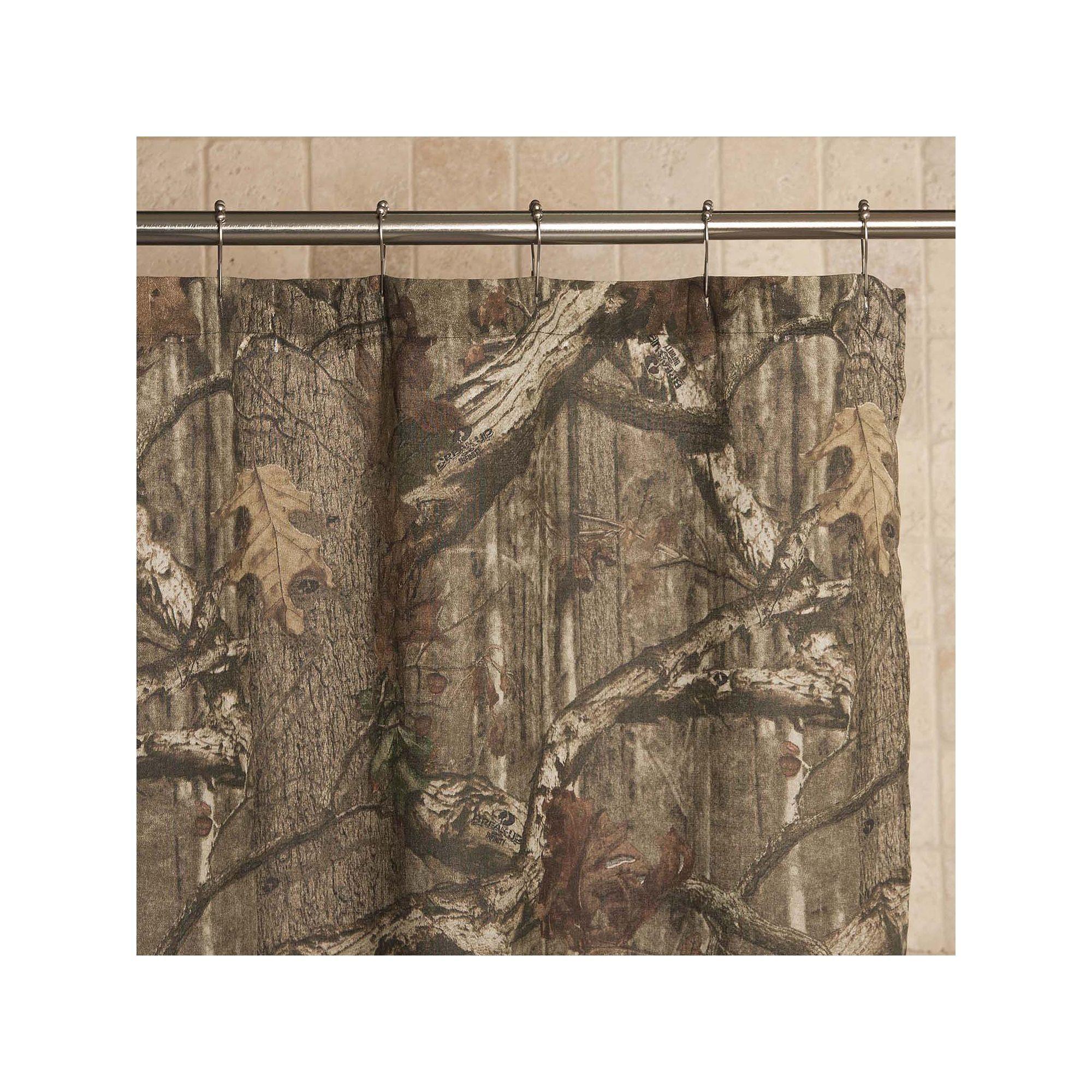 Mossy Oak Infinity Camo Fabric Shower Curtain Green