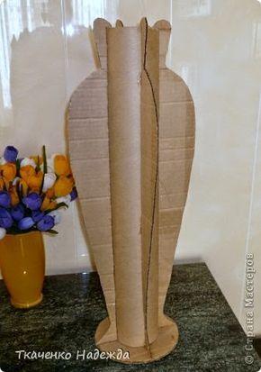 Eu Amo Artesanato: Vasos de chão feito de papelão.