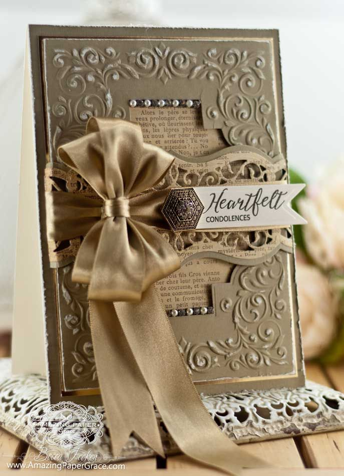 Heartfelt Condolences Cardmaking Ideas With Spellbinders