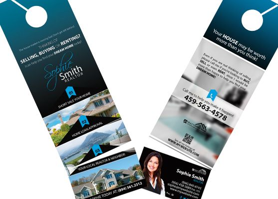 Real Estate Door Hanger Rip Cards Template 17 Door Hanger Rip Cards Door Hanger Printing Business Card Holders Cards