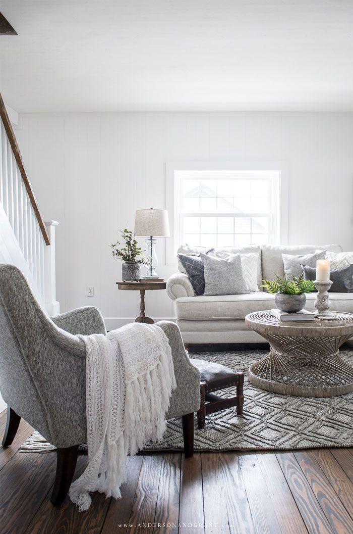 modern farmhouse living room reveal  fixer upper living
