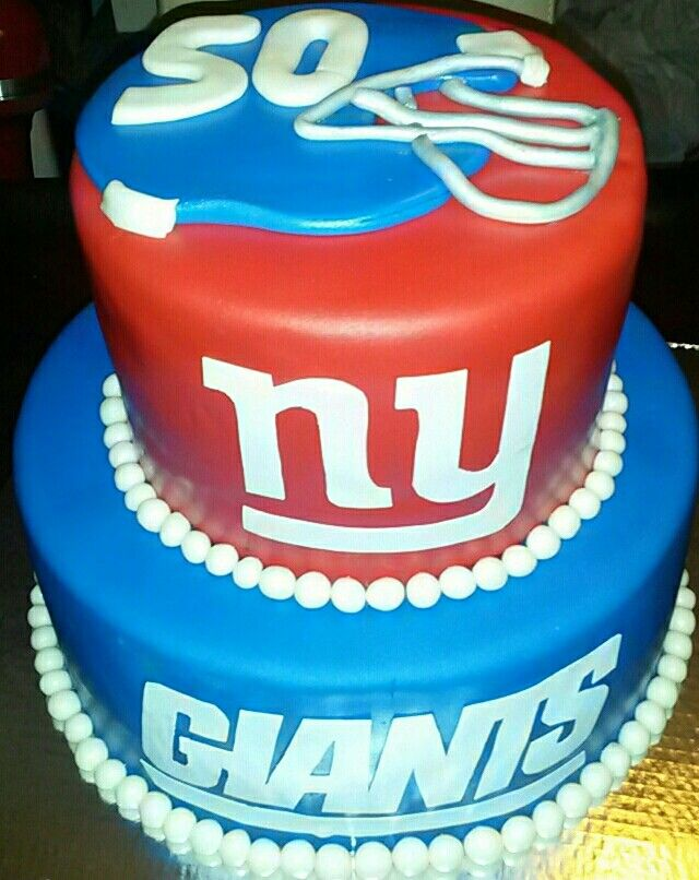 Ny Giants Cake My Theme Birthday Cakes Pinterest Ny Giants