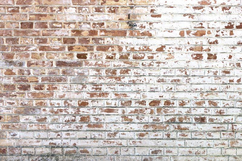 White Paint Bricks Wall Mural Painted Brick Walls Painted Brick