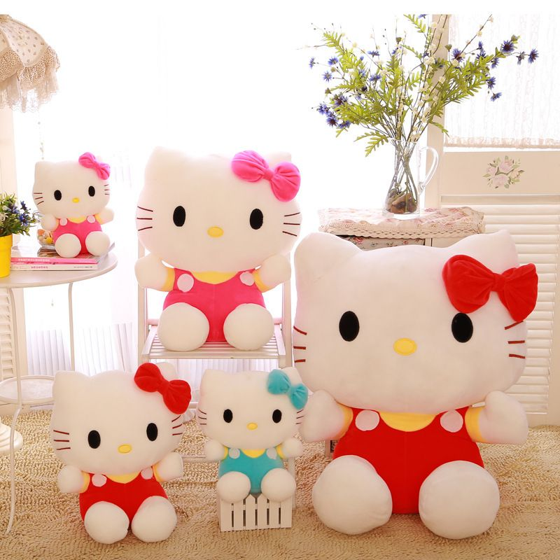 Stuffed High Quality 60 Cm Hello Kitty Plush Toys Hello Kitty Doll Polka Dot Child Gift Dolls & Stuffed Toys Free Shipping