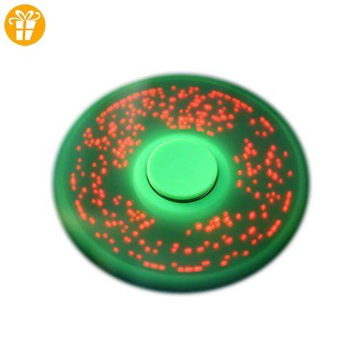 Prettyuk Briefe und Bilder LED-Licht Spinner Fidget Hand Toys Spinner Finger Spinner Fidget Spielzeug für Erwachsene und Kinder, entlasten Sie Ihre Stress, Angst und Langeweile,3 verschiedene Farben blinken mit Schalter (Grün) - Fidget spinner (*Partner-Link)